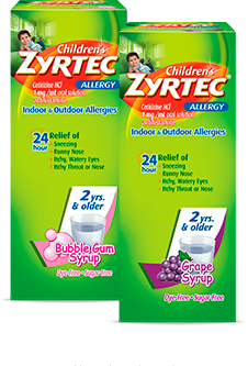 Children's ZYRTEC<sup>®</sup> Allergy Syrup flavors