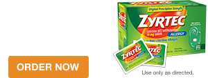 Free samples of ZYRTEC® Tablets and Zyrtec® Dissolve Tabs