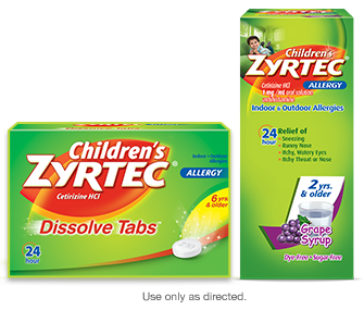 Children's ZYRTEC® allergy products