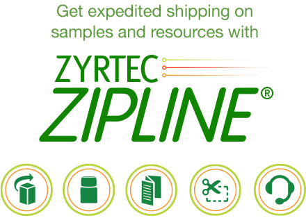 Get expedited shipping on samples and resources with ZYRTEC ZIPLINE
