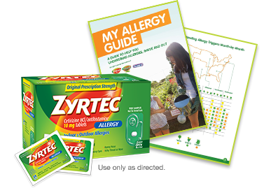 ZYRTEC® samples and resources for patients