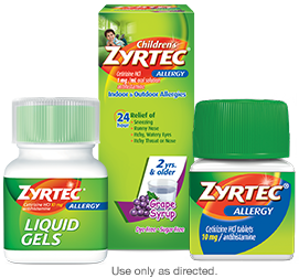 ZYRTEC® allergy relief products