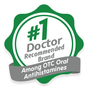 #1 doctor recommended among OTC Oral antihistamines seal