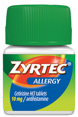 Bottle fo ZYRTEC® allergy relief pills